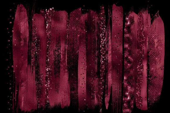 Burgundy Brush Strokes Clipart Graphic Illustrations By Digital Curio - Image 2