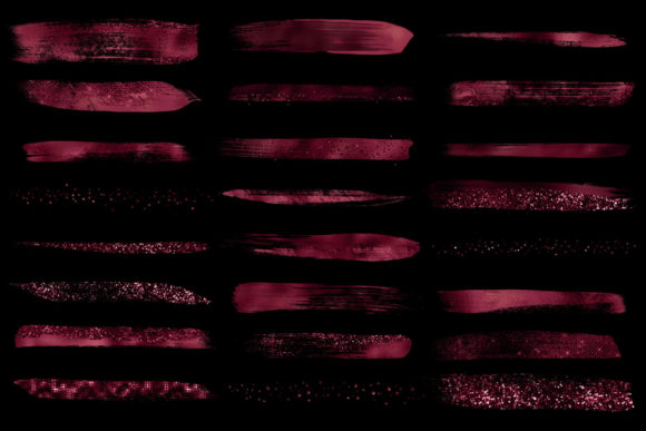 Burgundy Brush Strokes Clipart Graphic Illustrations By Digital Curio - Image 4