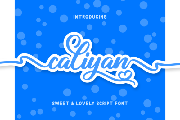 Print on Demand: Caliyan Script & Handwritten Font By kammaqsum