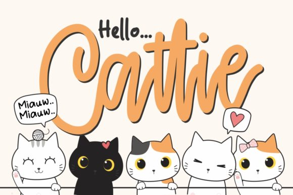Print on Demand: Cattie Script & Handwritten Font By Garisman Studio