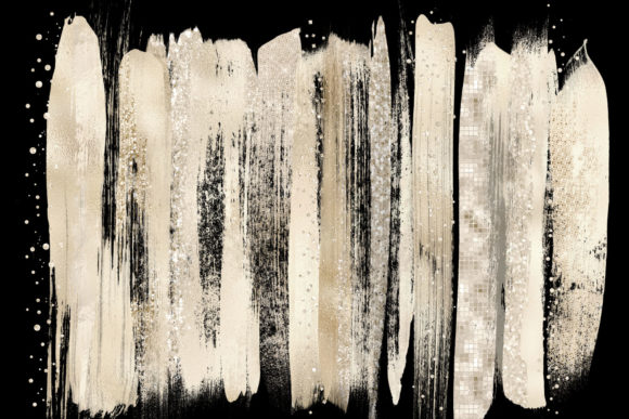 Champagne Brush Strokes Clipart Graphic Illustrations By Digital Curio - Image 2