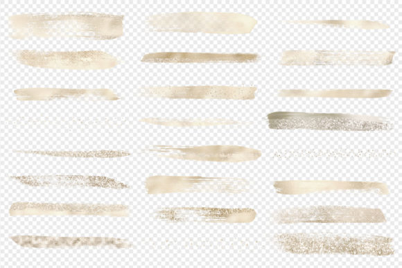 Champagne Brush Strokes Clipart Graphic Illustrations By Digital Curio - Image 3