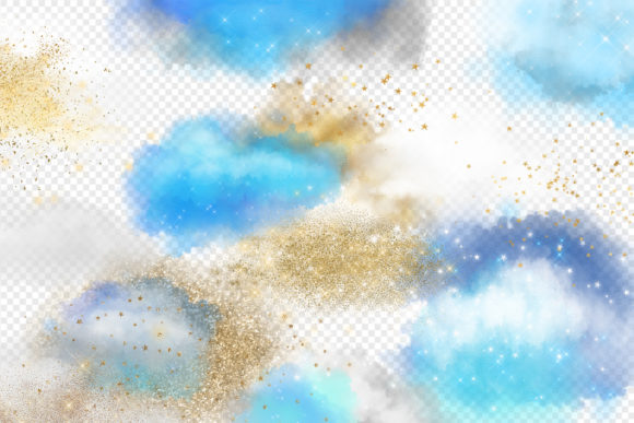 Clouds and Stars Overlays Graphic Illustrations By Digital Curio - Image 2
