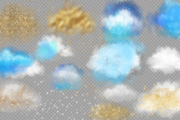 Clouds and Stars Overlays Graphic Illustrations By Digital Curio - Image 3