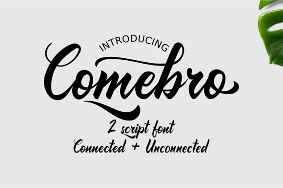 Print on Demand: Comebro Script & Handwritten Font By Unatype