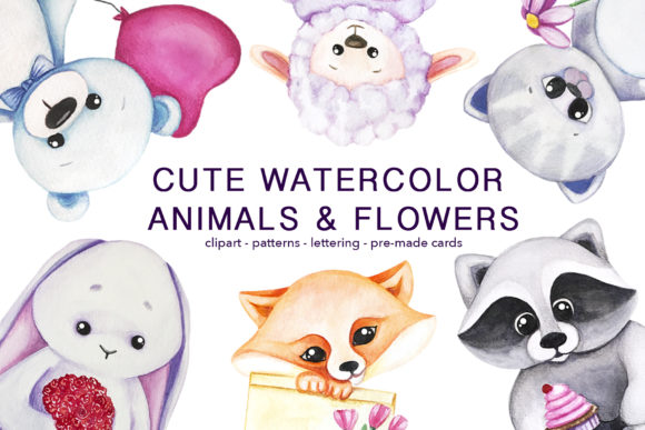 Cute Animals & Flowers Graphic Illustrations By Vera Vero