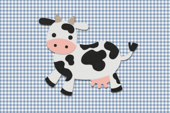 Cute Cow Graphic Crafts By RisaRocksIt