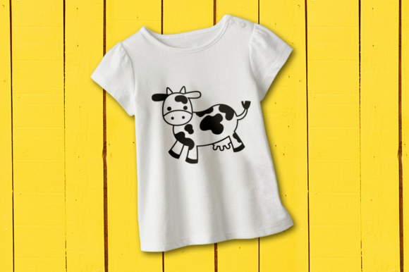 Download Free Cute Cow Graphic By Risarocksit Creative Fabrica for Cricut Explore, Silhouette and other cutting machines.