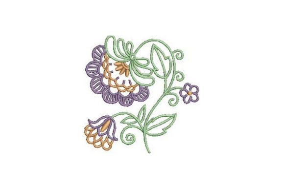 Decorative Outline Flower Outline Flowers Embroidery Design By Embroidery Designs