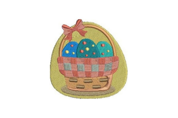 Easter Basket Easter Embroidery Design By Embroidery Designs - Image 1