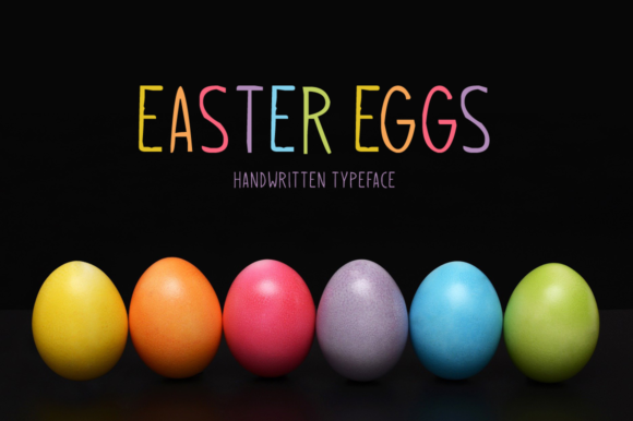 Print on Demand: Easter Eggs Display Font By Instagram Fonts - Image 1
