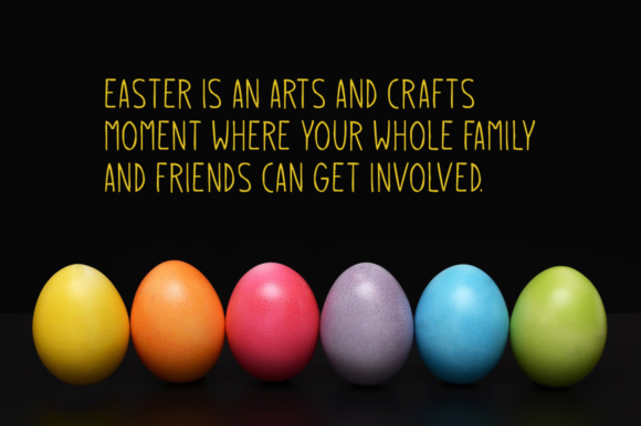Print on Demand: Easter Eggs Display Font By Instagram Fonts - Image 2