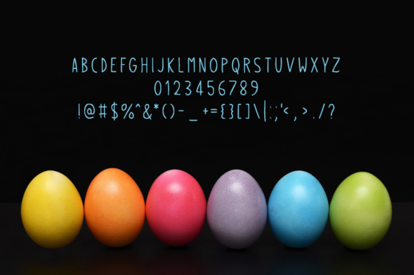 Print on Demand: Easter Eggs Display Font By Instagram Fonts - Image 4