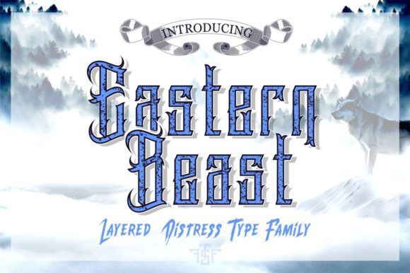 Print on Demand: Eastern Beast Display Font By uncurve