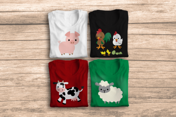 Farm Animal Design Set Graphic Crafts By RisaRocksIt