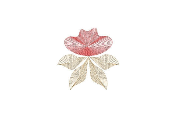 Floral Fancy 3 Single Flowers & Plants Embroidery Design By Carol Undy - Image 1