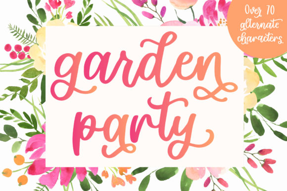 Print on Demand: Garden Party Script & Handwritten Font By jordynalisondesigns