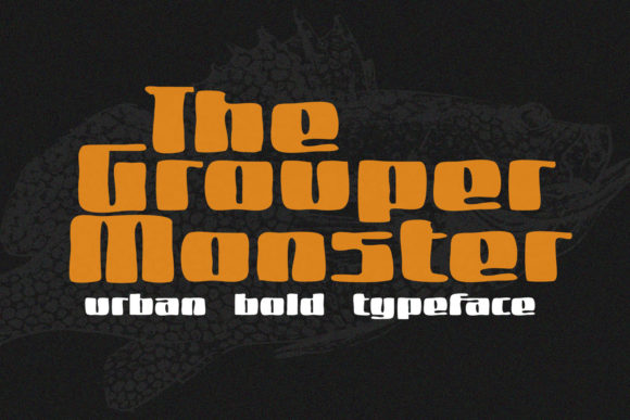 Print on Demand: Grouper Monster Script & Handwritten Font By 38.lineart
