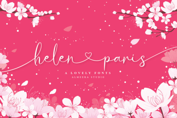Download Free Helen Paris Font By Almeera Studio Creative Fabrica for Cricut Explore, Silhouette and other cutting machines.