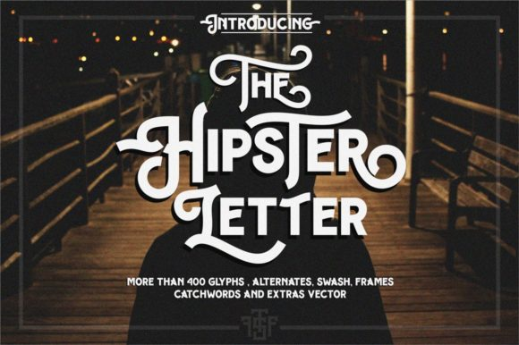 Print on Demand: Hipster Letter Display Font By uncurve