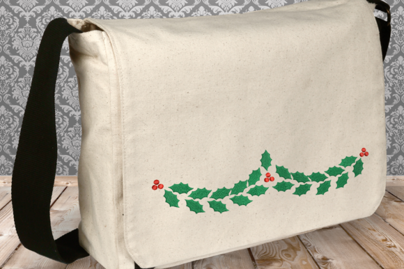 Holly Garland Christmas Embroidery Design By DesignedByGeeks