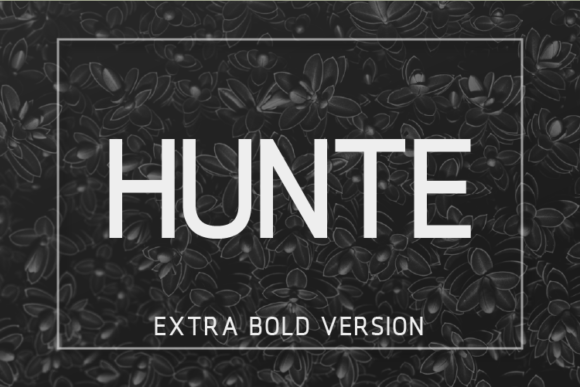 Print on Demand: Hunte Extra Bold Sans Serif Font By Huntype