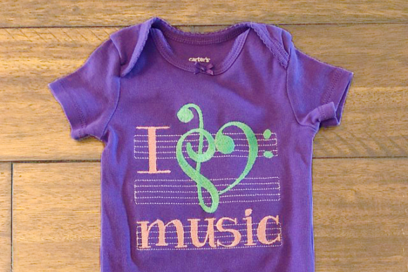 I Love Music Music Embroidery Design By DesignedByGeeks - Image 2