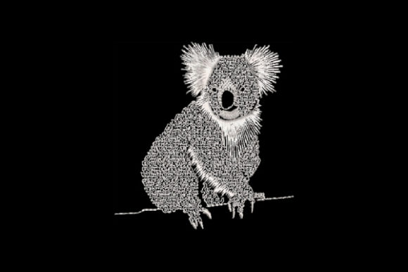 Koala Wild Animals Embroidery Design By Carol Undy