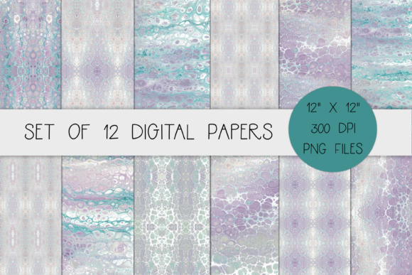 Lavender Acrylic Textured Digital Paper Graphic Backgrounds By merakireveriestudio