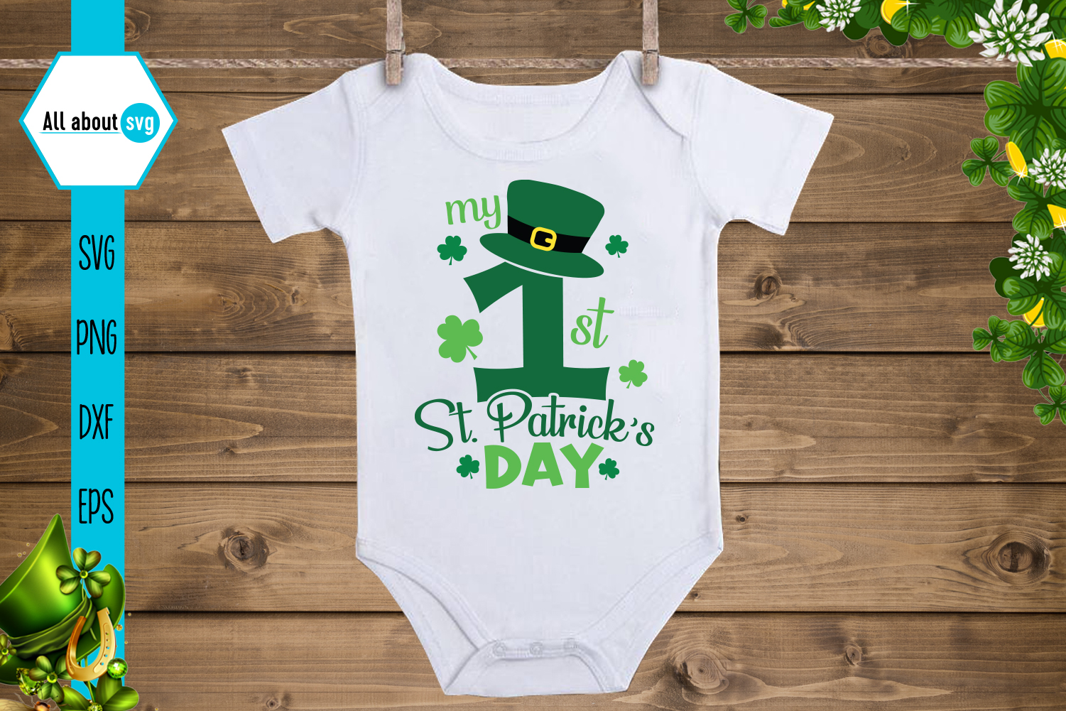 My First St Patrick S Day Graphic By All About Svg Creative