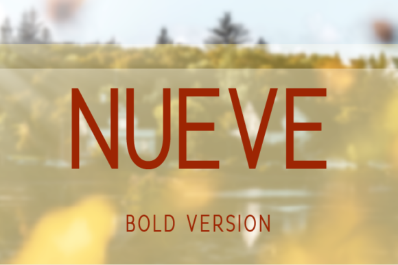 Print on Demand: Nueve Bold Sans Serif Font By Huntype