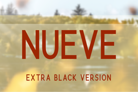 Print on Demand: Nueve Extra Black Sans Serif Font By Huntype