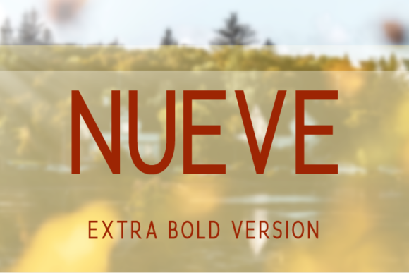 Print on Demand: Nueve Extra Bold Sans Serif Font By Huntype