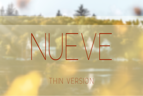 Print on Demand: Nueve Thin Sans Serif Font By Huntype