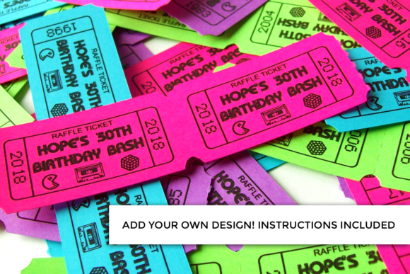 Perforated Tickets + Print & Cut Graphic Crafts By RisaRocksIt - Image 3