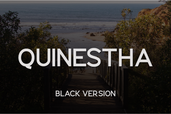 Download Free Quinestha Black Font By Huntype Creative Fabrica for Cricut Explore, Silhouette and other cutting machines.