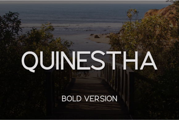 Print on Demand: Quinestha Bold Sans Serif Font By Huntype