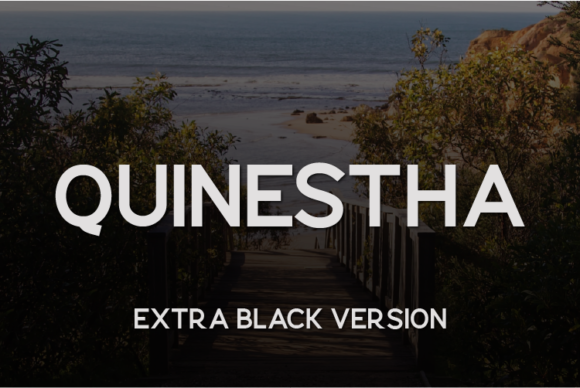 Print on Demand: Quinestha Extra Black Sans Serif Font By Huntype