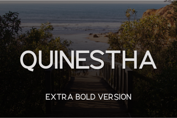 Print on Demand: Quinestha Extra Bold Sans Serif Font By Huntype