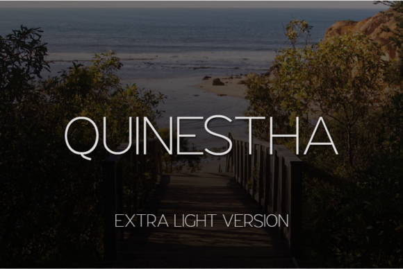 Print on Demand: Quinestha Extra Light Sans Serif Font By Huntype