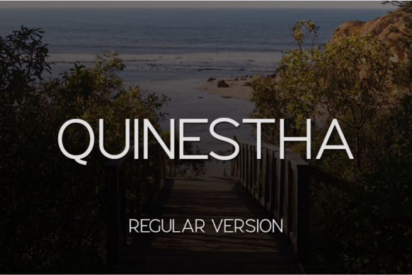 Print on Demand: Quinestha Sans Serif Font By Huntype