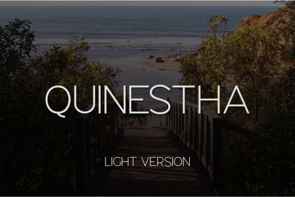 Print on Demand: Quinestha Light Sans Serif Font By Huntype