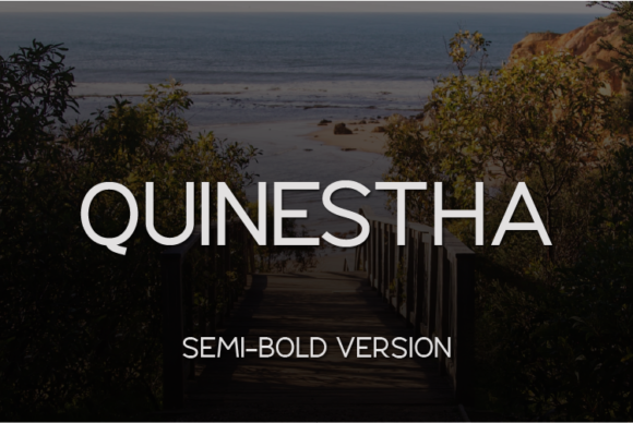 Print on Demand: Quinestha Semi-Bold Sans Serif Font By Huntype
