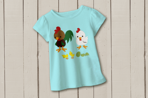 Rooster Chicken and Chick Graphic Crafts By RisaRocksIt