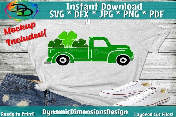 Download Free Shamrock Truck Graphic By Dynamicdimensions Creative Fabrica for Cricut Explore, Silhouette and other cutting machines.