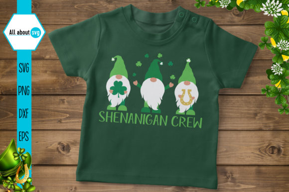 Download Free Shenanigan Crew Gnomes Graphic By All About Svg Creative Fabrica for Cricut Explore, Silhouette and other cutting machines.