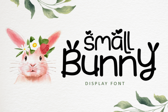 Print on Demand: Small Bunny Display Font By illushvara