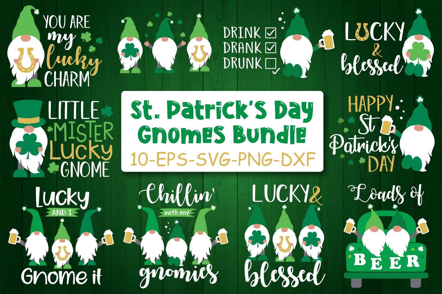 Download Free St Patrick S Day Gnomes Bundle Graphic By All About Svg Creative Fabrica for Cricut Explore, Silhouette and other cutting machines.