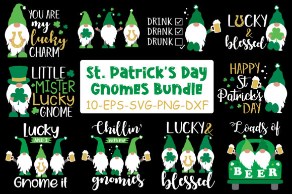 St Patrick's Day Gnomes Bundle Graphic Crafts By All About Svg - Image 2