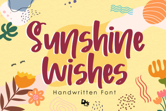 Print on Demand: Sunshine Wishes Manuscrita Fuente Por dmletter31